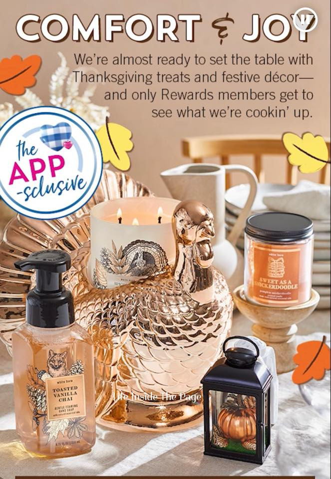 Bath-and-Body-Works-Member-App-First-Look-Turkey-for-Thanksgiving