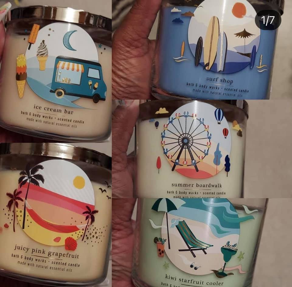 New Bath and Body Works Summer Theme Candles