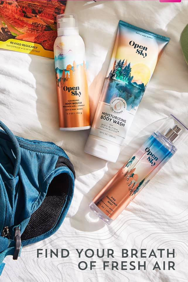 Bath and Body Works Open Sky Body Care Collection
