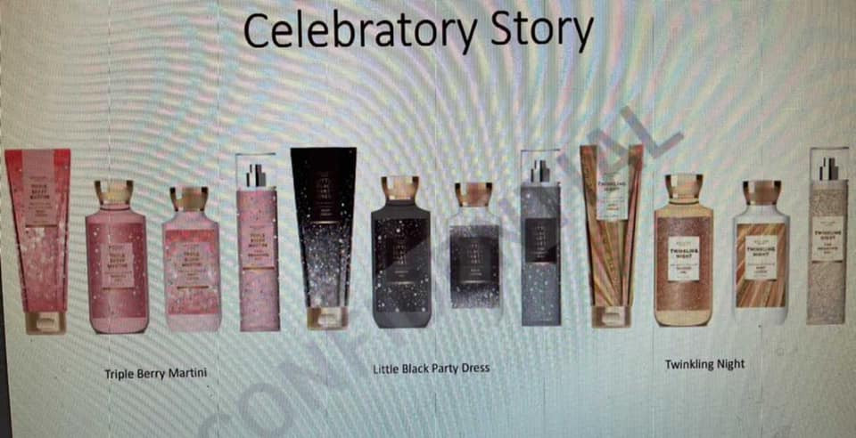 Bath and Body Works Celebratory Story Body Care for Semi Annual Sale 2021
