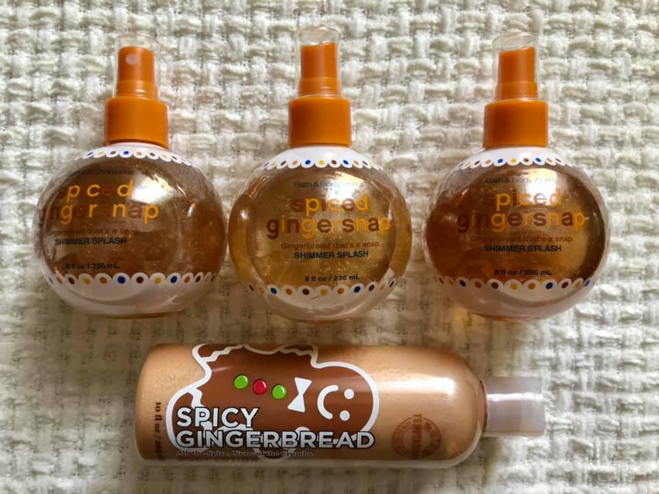 Bath and Body Works Spiced Gingersnap Body Care