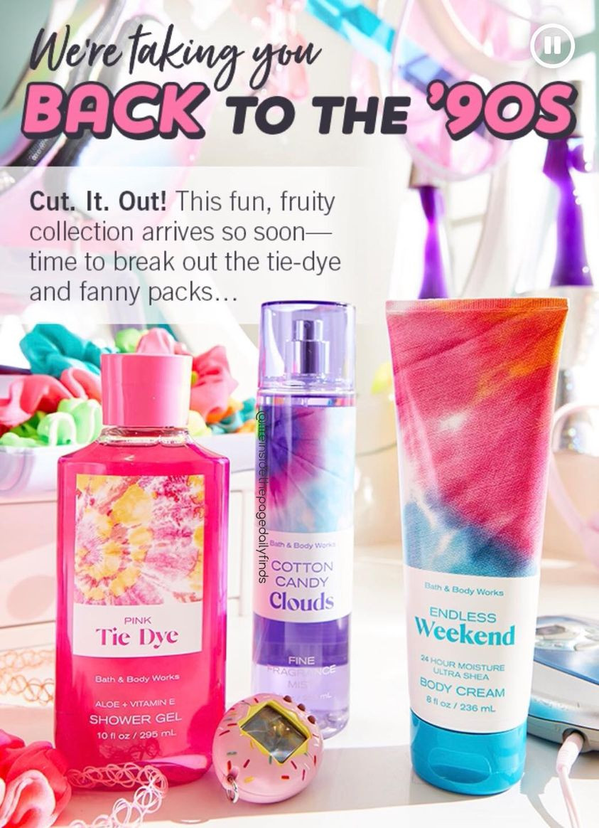 Bath and Body Works 90's Rerun Body Care Collection