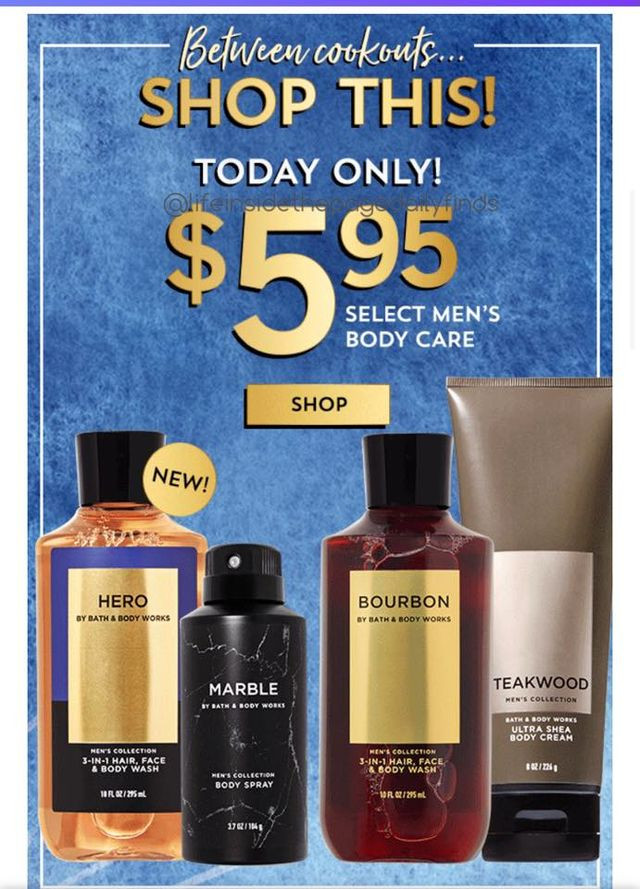 May-31 Men's Body Care Sale